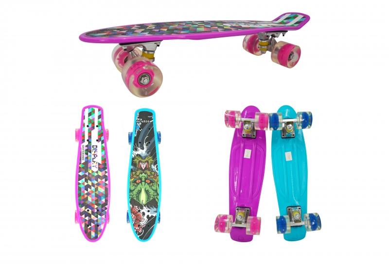 Скейт Navigator, полиуретановые колеса, свет