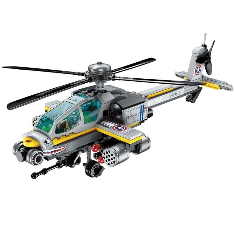 Конструктор с фигурками и аксессуарами - Военный вертолет, 280 деталей по цене 1 414