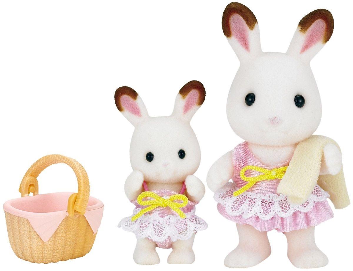 Купить Sylvanian Families - Кролики в купальных костюмах, Epoch