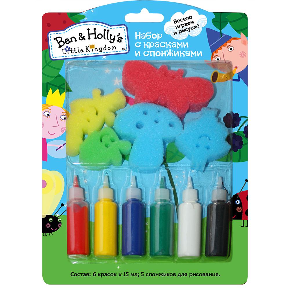 Купить со скидкой Набор со спонжиками и красками - Бен и Холли