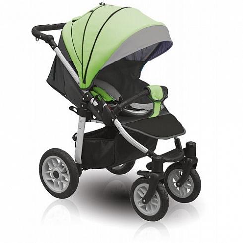 Коляска Camarelo Eos, черная с зеленымДетские прогулочные коляски<br>Коляска Camarelo Eos, черная с зеленым<br>