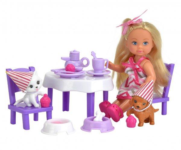 Кукла Еви с набором - День рождение питомцев, 12 см. фото