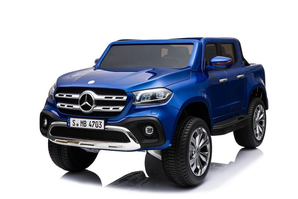 Электромобиль ToyLand Mersedes-Benz X-Class синего цвета фото