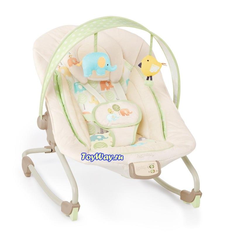 Кресло-качалка Комфорт и гармония «Друзья малыша»Электронные качели для детей<br>Удобное, надежное кресло-качалка , имеет 7 мелодий, 3 положения сидения, 2 игрушки.<br>