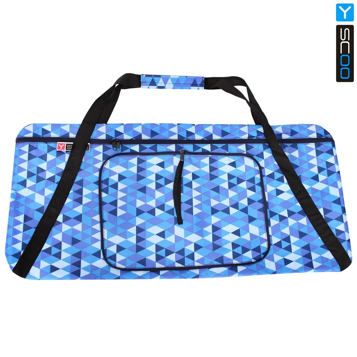 Чехол-портмоне складной для самоката Y-Scoo 230 - Ромбы голубые фото