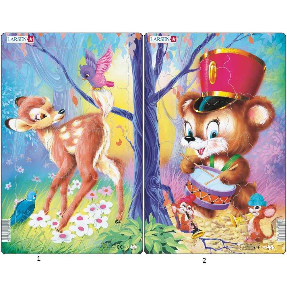 картинка Пазл - Милые животные, 2 вида от магазина Bebikam.ru