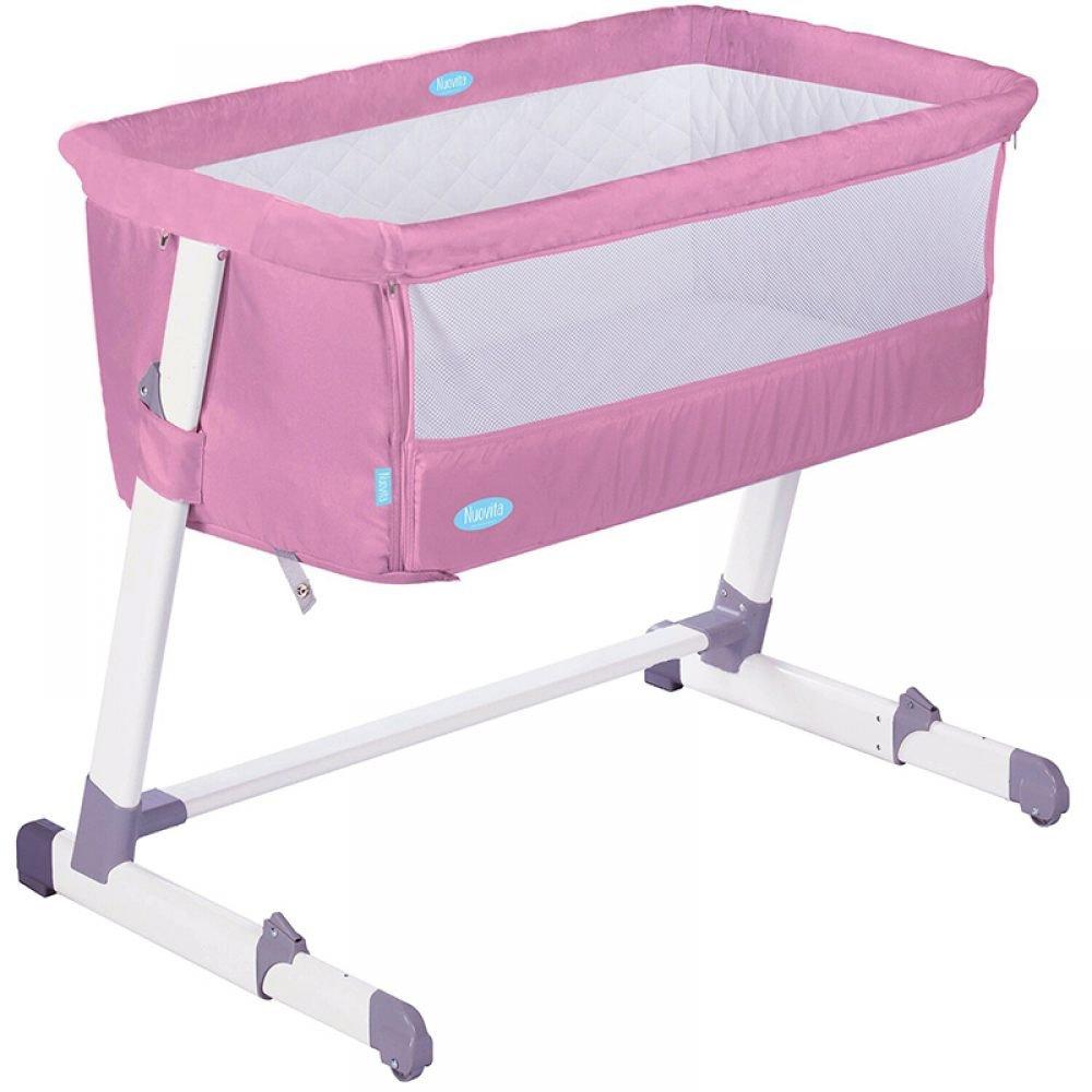 Детская приставная кроватка – Nuovita Accanto, розовыйКолыбели, люльки<br>Детская приставная кроватка – Nuovita Accanto, розовый<br>