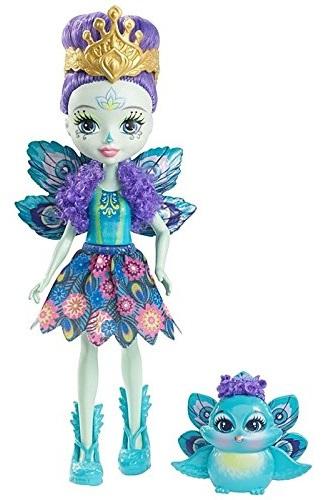 Кукла Enchantimals с питомцем - Пэттер Павлина, 15 смКуклы Enchantimals (Энчантималс)<br>Кукла Enchantimals с питомцем - Пэттер Павлина, 15 см<br>