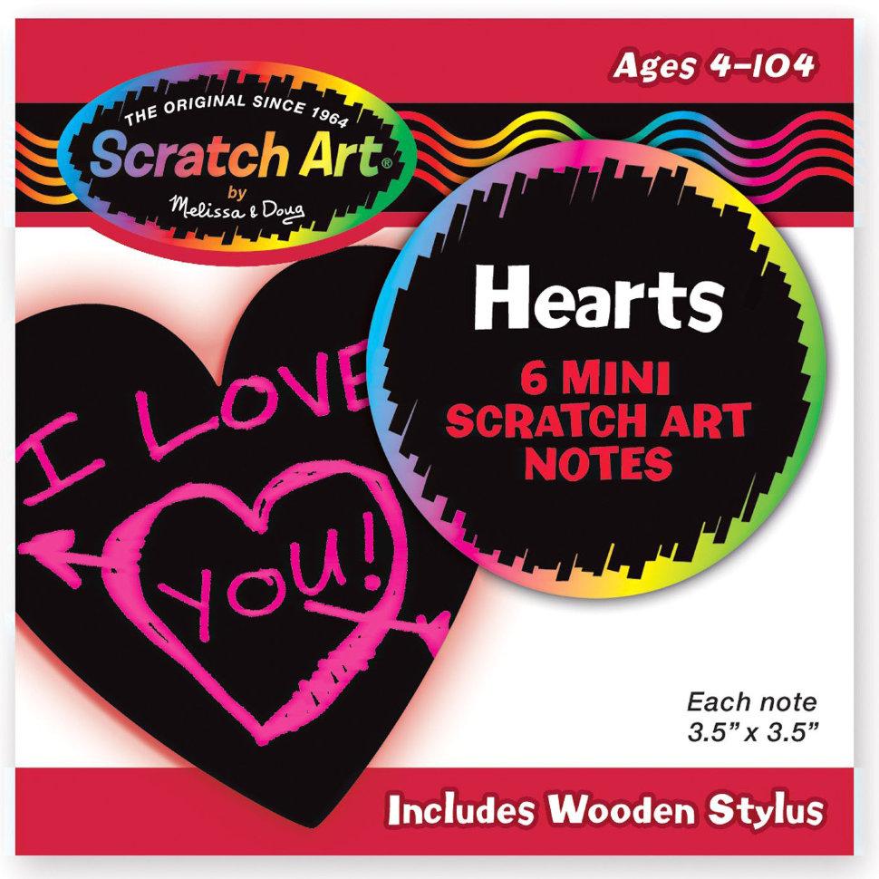 Набор мини - стикеров «Scratch Art. Сердечки»Наклейки<br>Набор мини - стикеров «Scratch Art. Сердечки»<br>