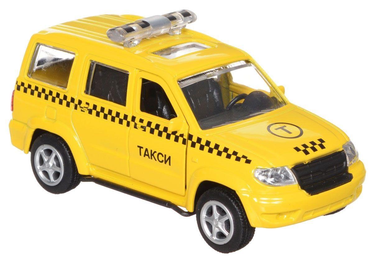 Купить Такси - Уаз Патриот, машина металлическая инерционная, Технопарк