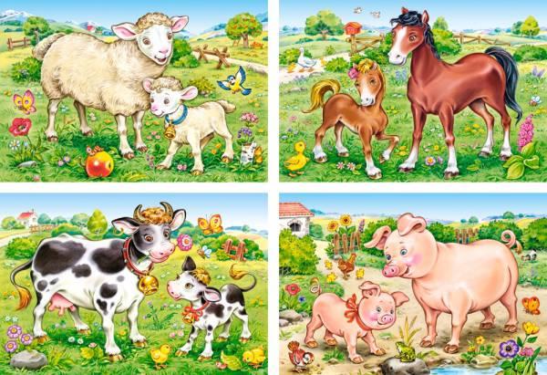 Пазл Castorland 4 в 1 , Домашние животныеПазлы<br>Пазл Castorland 4 в 1 , Домашние животные<br>