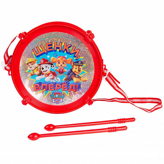 Детский музыкальный инструмент – Щенячий Патруль. Барабан, Росмэн  - купить со скидкой