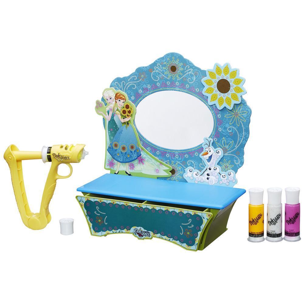 Набор для творчества Doh Vinci  Стильный туалетный столик + набор блестящих катриджей - Пластилин Doh-Vinci от Play-Doh, артикул: 166863