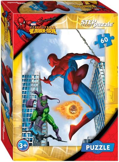 Пазл MARVEL Человек-Паук, 60 элементовSpider-Man (Игрушки Человек Паук)<br>Пазл MARVEL Человек-Паук, 60 элементов<br>