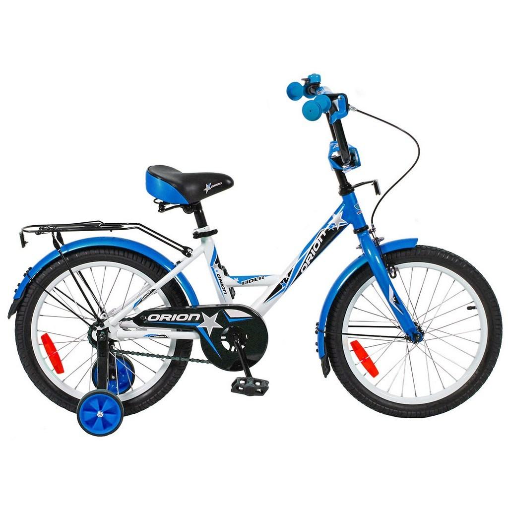 Двухколесный велосипед Lider Orion диаметр колес 18 дюймов, белый/синийВелосипеды детские<br>Двухколесный велосипед Lider Orion диаметр колес 18 дюймов, белый/синий<br>