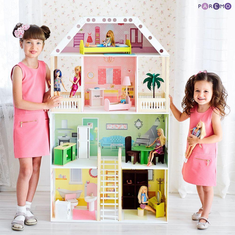 Купить Кукольный домик - Поместье Шервуд, с мебелью, Paremo
