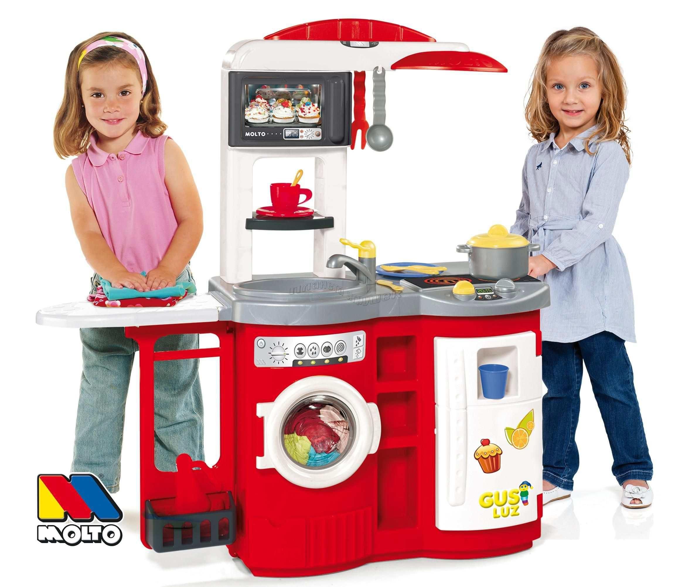 Детская игровая кухня - Molto с гладильной доскойДетские игровые кухни<br>Детская игровая кухня - Molto с гладильной доской<br>