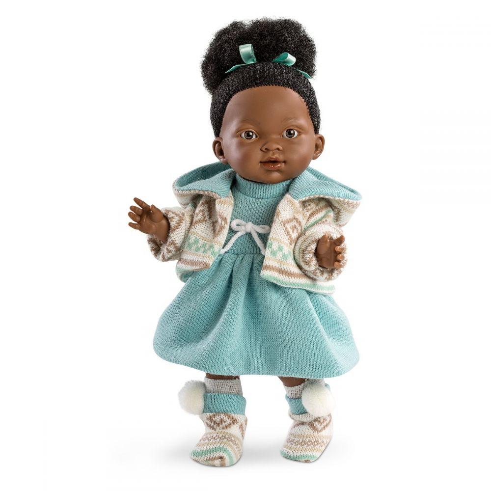 Кукла Валерия мулатка 28 смИспанские куклы Llorens Juan, S.L.<br>Кукла Валерия мулатка 28 см<br>