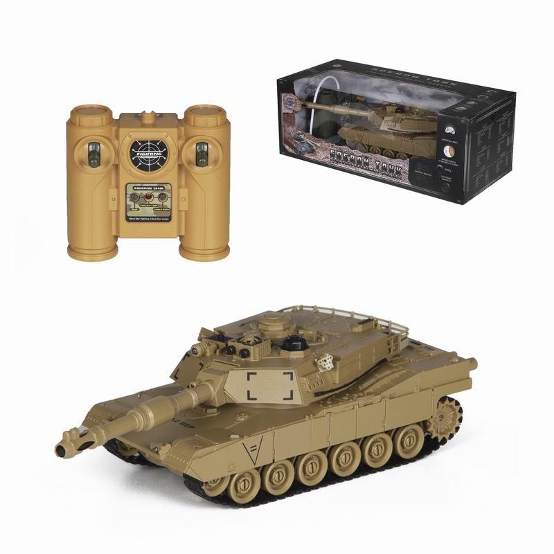 Радиоуправляемый танк М1А2 – Абрамс, бежевый, 1:24Радиоуправляемые танки<br>Радиоуправляемый танк М1А2 – Абрамс, бежевый, 1:24<br>