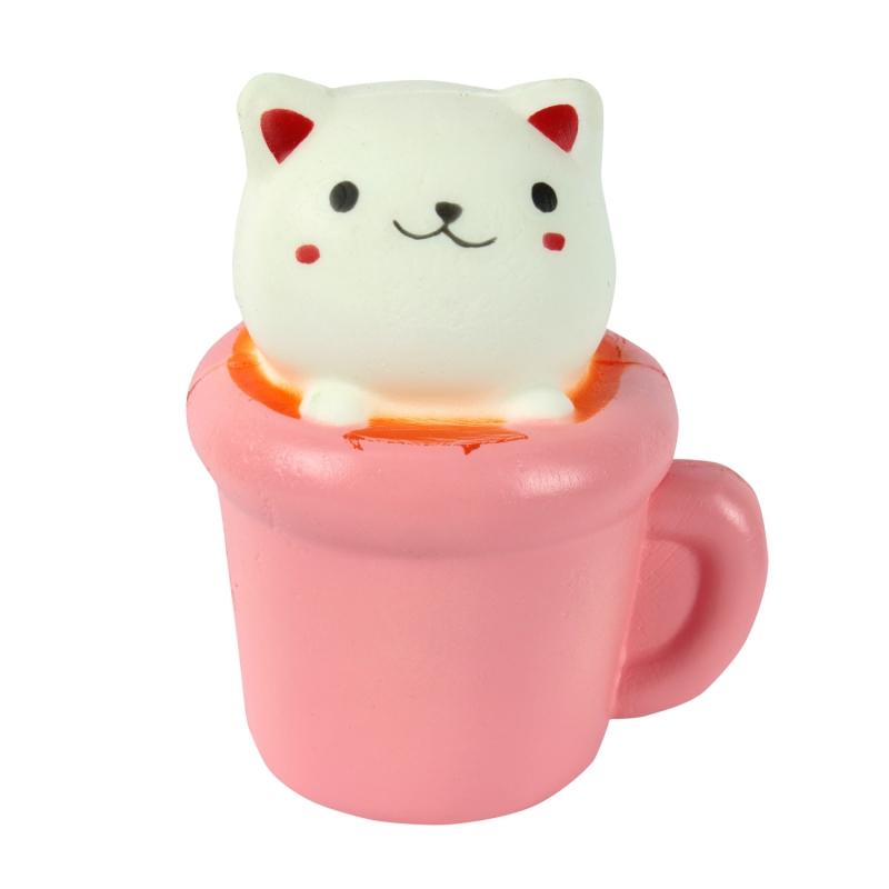 Игрушка-антистресс - Мммняшка squishy сквиши Кошка в чашке