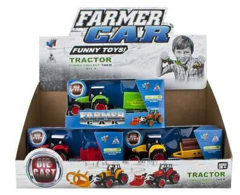Купить Инерционная игрушка - Трактор с прицепом, JUNFA TOYS