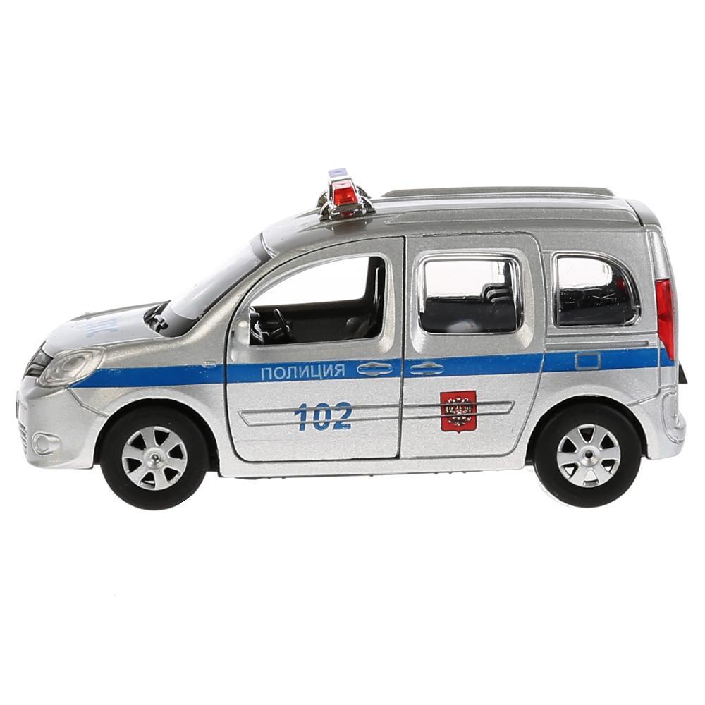 Купить Машина инерционная металлическая Renault Kangoo - Полиция 12 см, открываются двери, Технопарк