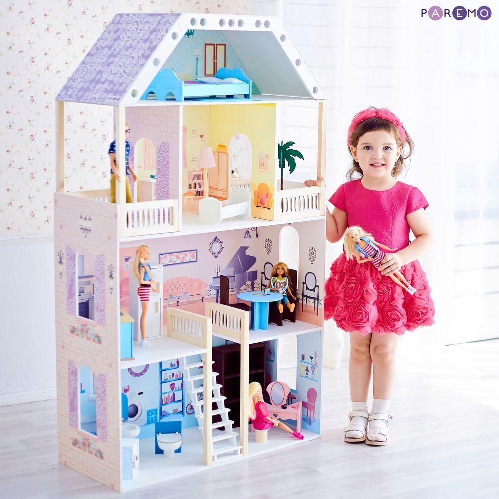 Купить Кукольный домик с мебелью - Поместье Риверсайд, 16 предметов, Paremo