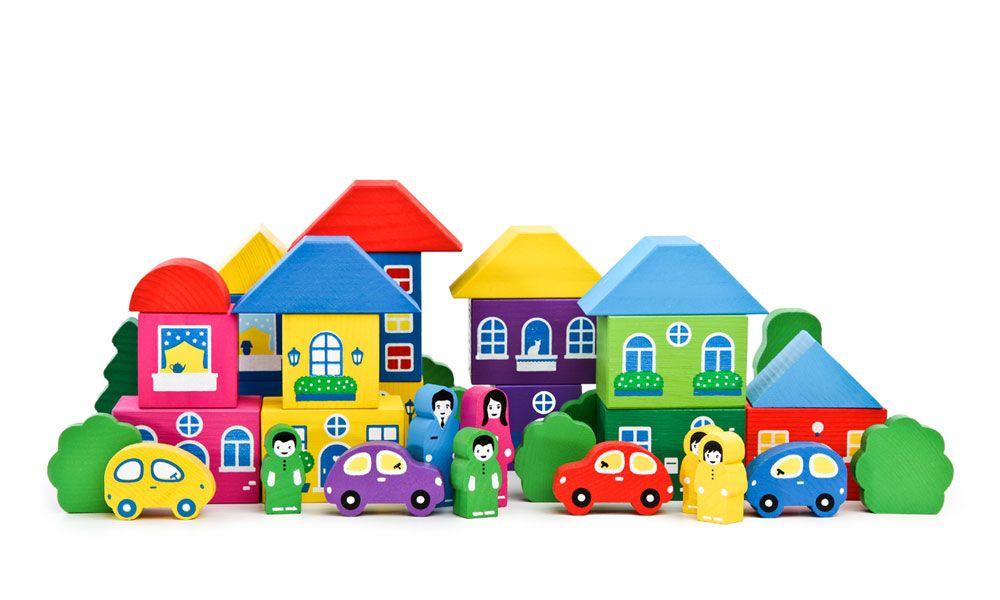 Конструктор - Цветной городок, 41 деталь