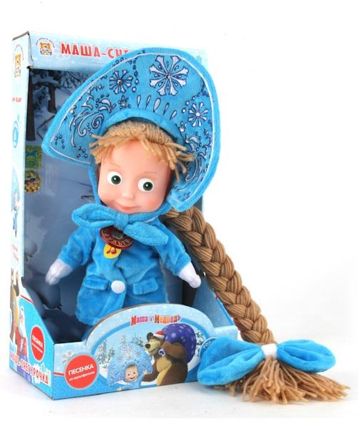 Мягкая игрушка Маша-Снегурочка из мультфильма «Маша и медведь» - Маша и медведь игрушки, артикул: 131339