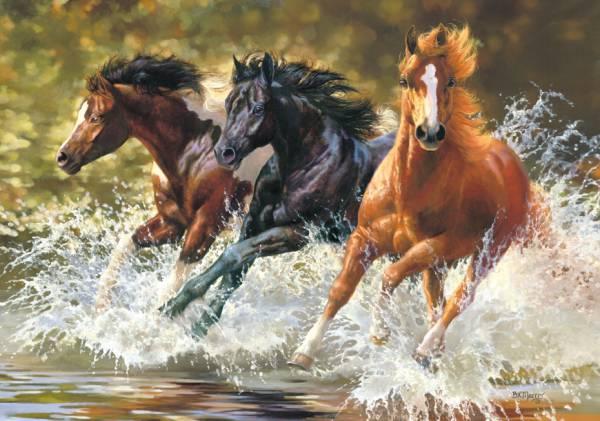 Купить Пазл Castorland 500 деталей Лошади