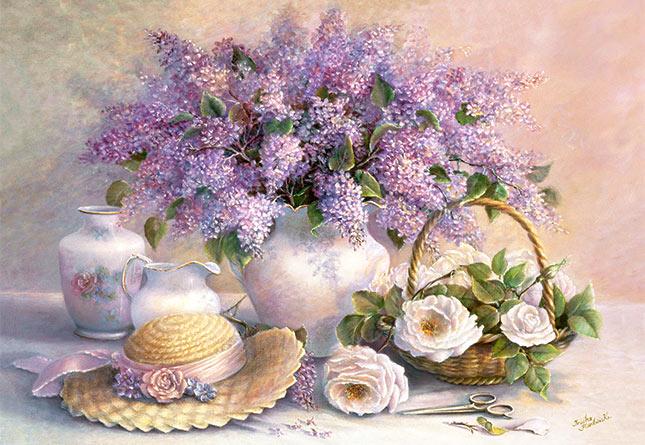 Пазл Цветы, живопись, 1000 элементов