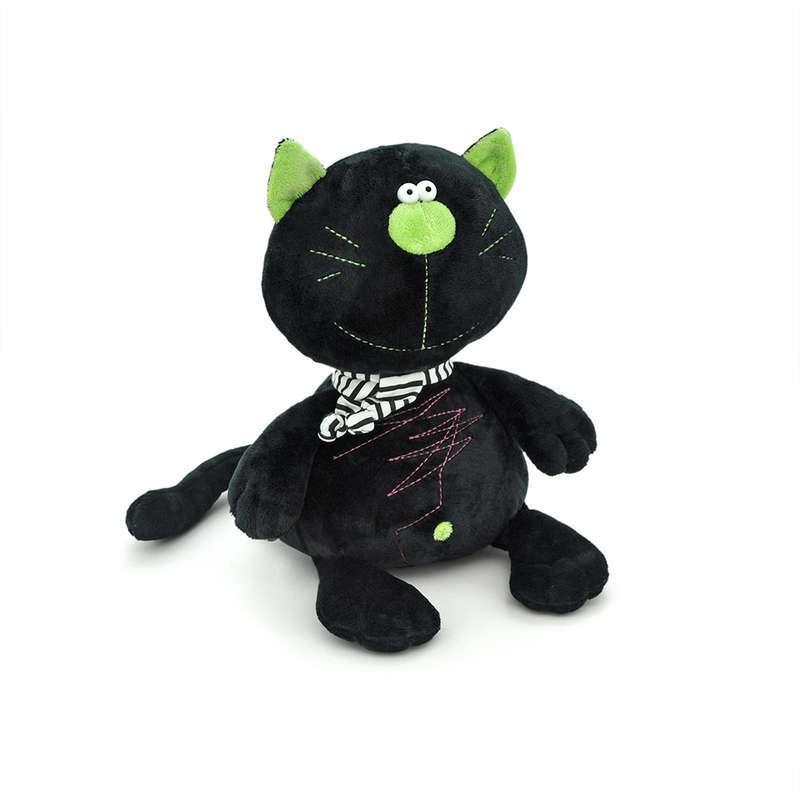 Мягкая игрушка - Кот Батон, черный, 15 смКоты<br>Мягкая игрушка - Кот Батон, черный, 15 см<br>