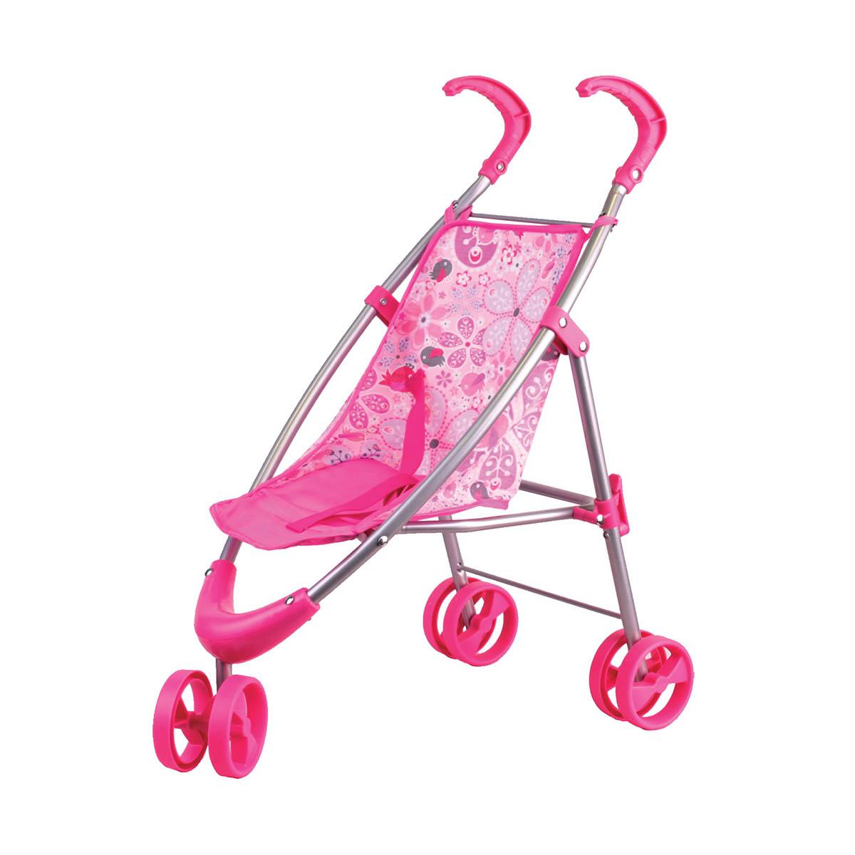 Прогулочная коляска розовая - Коляски для кукол, артикул: 159026
