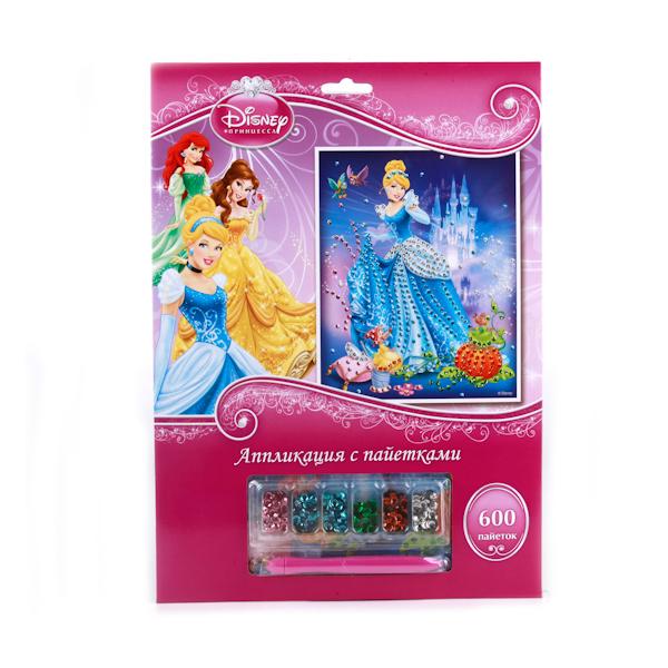 Набор для творчества - Аппликация из пайеток - Disney ПринцессыАппликация, пайетки<br>Набор для творчества - Аппликация из пайеток - Disney Принцессы<br>