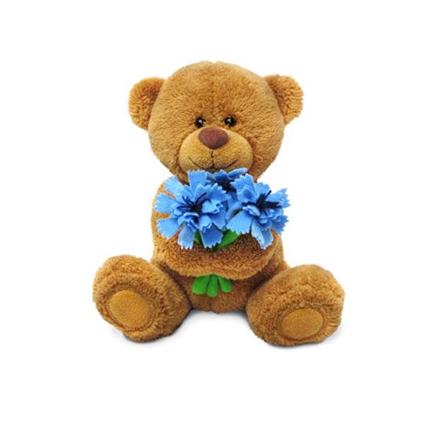 Мягкая игрушка - Медвежонок Сэмми с васильками, музыкальный, 18 см.Говорящие игрушки<br>Мягкая игрушка - Медвежонок Сэмми с васильками, музыкальный, 18 см.<br>