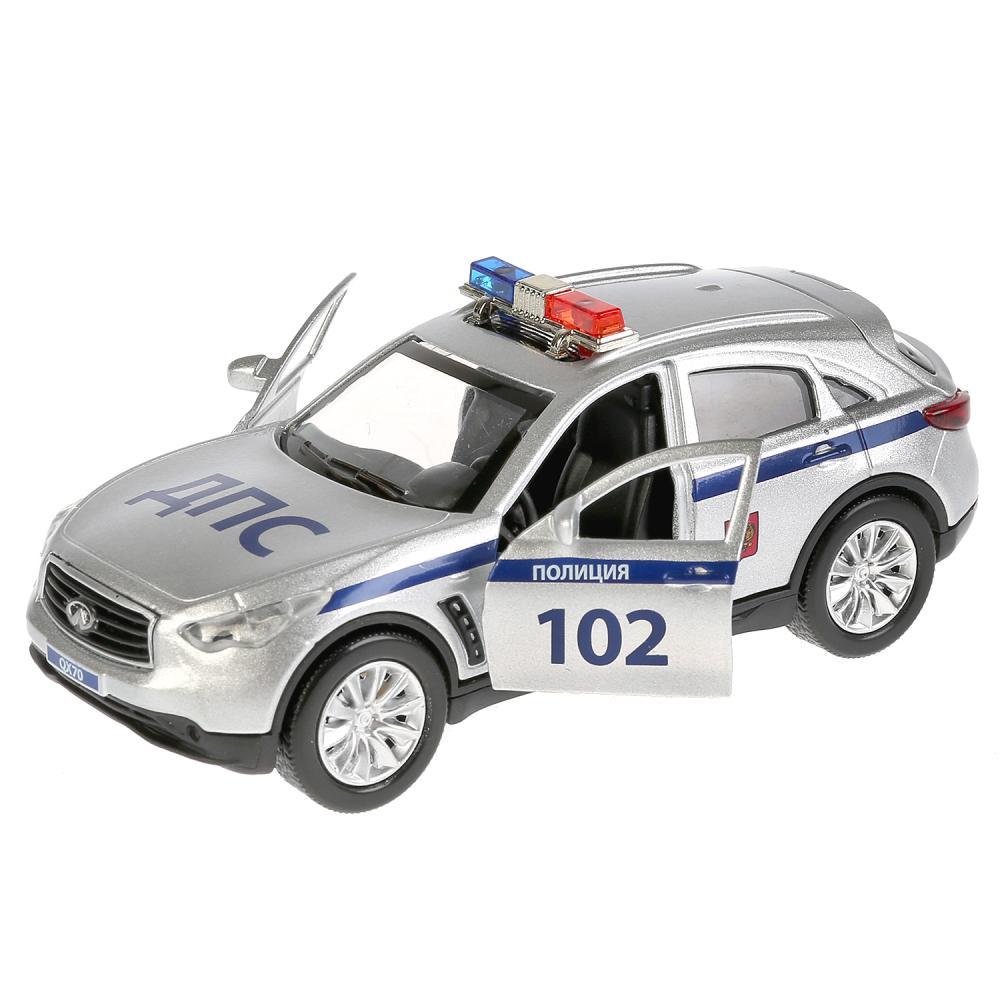 Купить Инерционная металлическая машина Infiniti Qx70 – Полиция, 12 см, свет-звук, , Технопарк