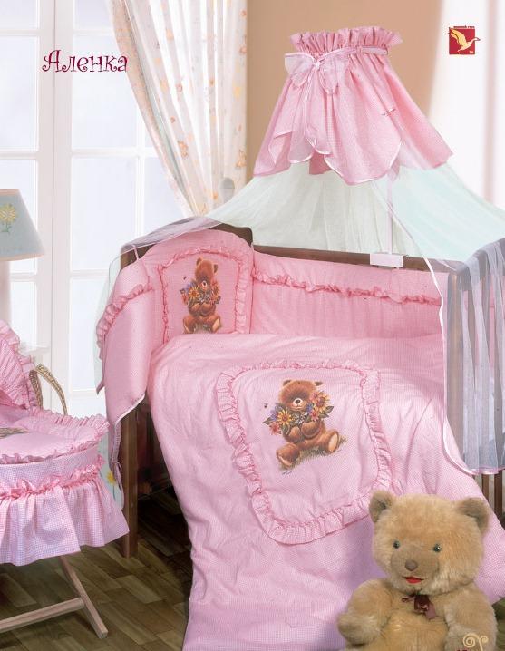 Комплект – Аленка, розовыйДетское постельное белье<br>Комплект – Аленка, розовый<br>
