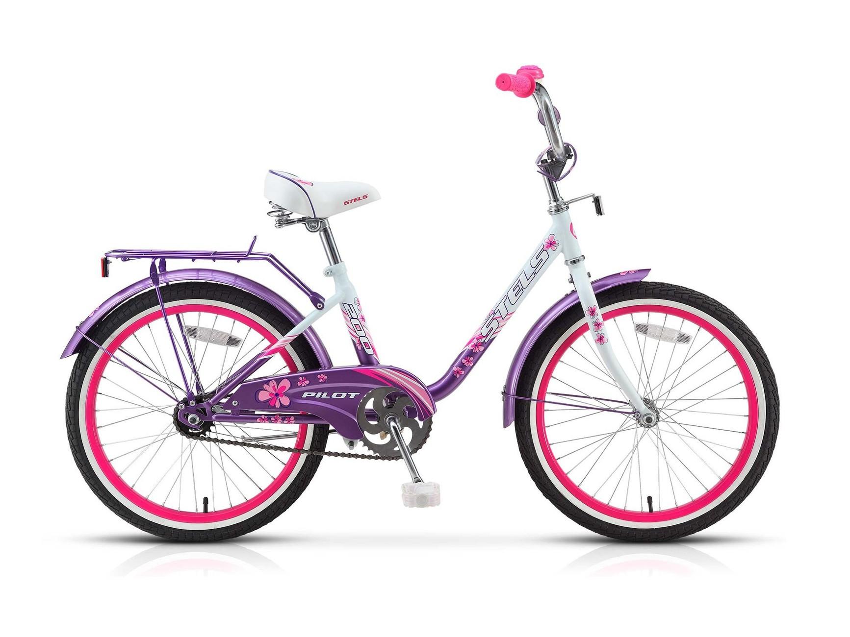Велосипед Pilot 200 Lady с колесами 20 , стальной рамой и багажником - Велосипеды детские, артикул: 158111