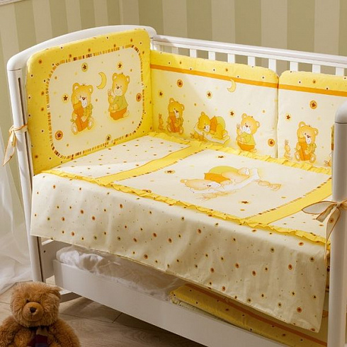 Комплект постельного белья для детей Perina™ - Ника, бежевыйДетское постельное белье<br>Комплект постельного белья для детей Perina™ - Ника, бежевый<br>