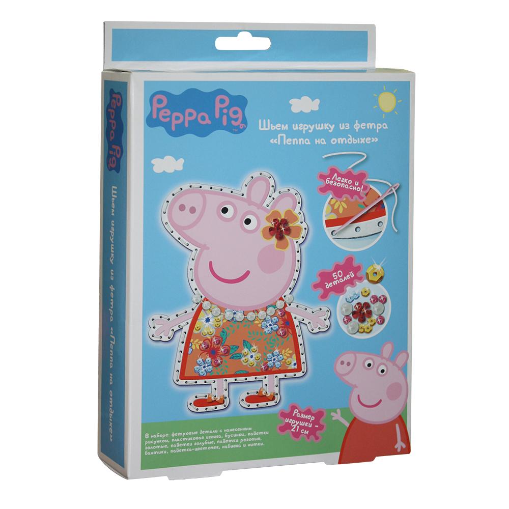 Купить Шьем игрушку из фетра - Пеппа на отдыхе из серии Свинка Пеппа, Росмэн