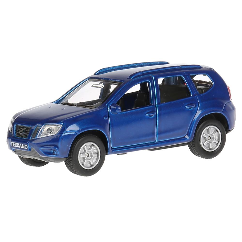 Купить Машина металлическая Nissan Terrano синий, 12 см., открываются двери и багажник, инерционная -WB), Технопарк