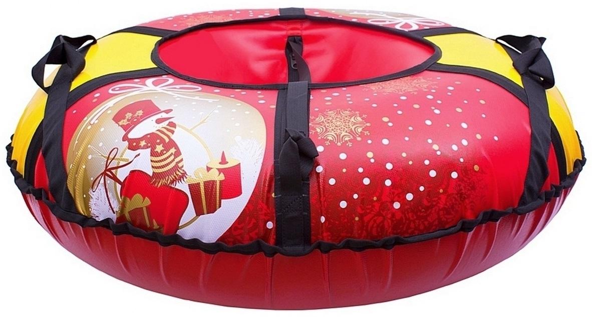 Санки надувные Тюбинг Новый Год + автокамера, диаметр 93 смВатрушки и ледянки<br>Санки надувные Тюбинг Новый Год + автокамера, диаметр 93 см<br>