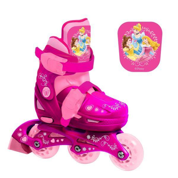 Ролики раздвижные с пластиковой рамой, размер 28-31, дизайн Принцессы Psim) - Роликовые коньки детские, артикул: 156834