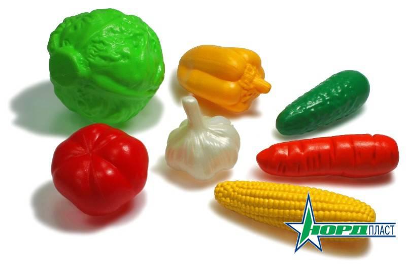 Игровой набор – Овощи, 7 предметов в пакетеАксессуары и техника для детской кухни<br>Игровой набор – Овощи, 7 предметов в пакете<br>