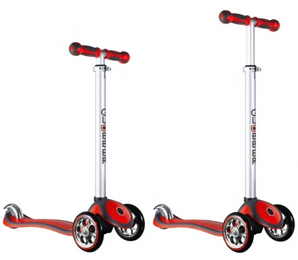 Купить Самокат Globber My free AlU Chrome, красный, с блокировкой колес
