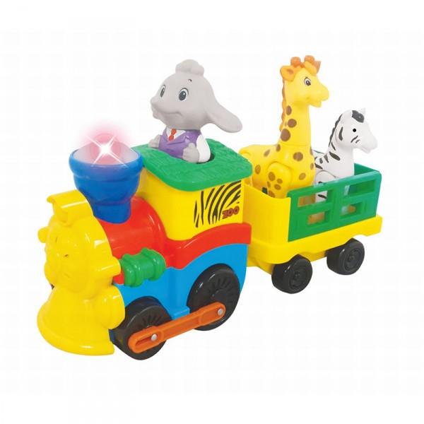 Развивающая игрушка - Паровозик СафариРазвивающие игрушки KIDDIELAND<br>Развивающая игрушка - Паровозик Сафари<br>