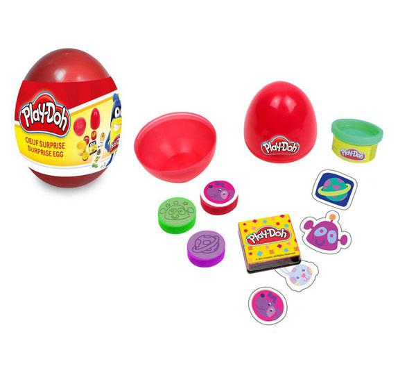 Набор из серии Play doh - Необычное яйцо, 5 наклеек, паста для лепки, 3 марки, блокнот