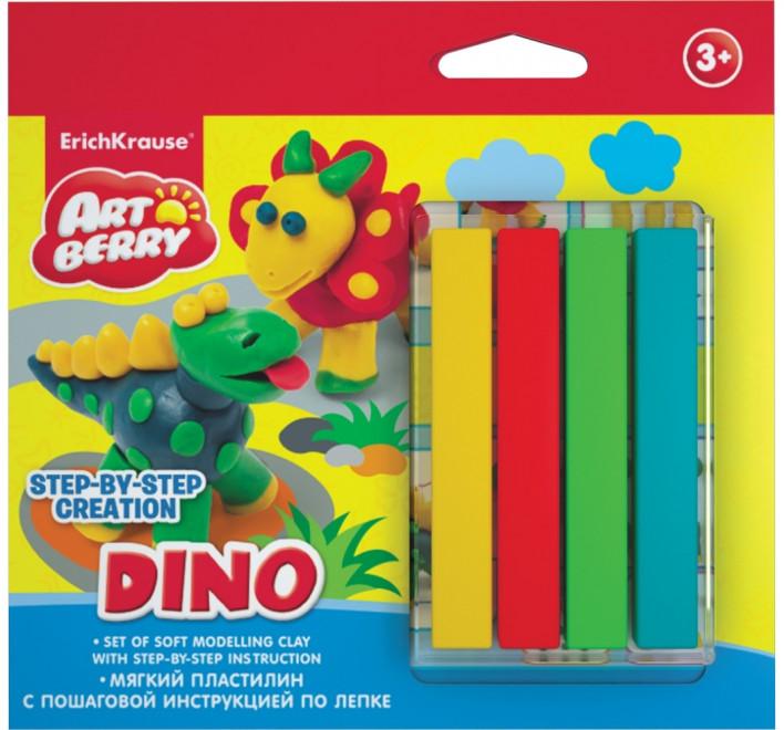 Купить Набор для лепки - Динозавры, 4 цвета, Erich Krause