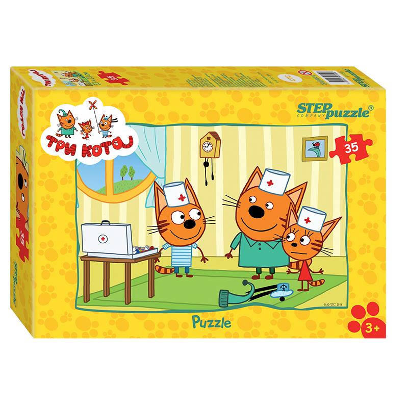 Пазл для малышей - Три кота, 35 деталей, Step Puzzle  - купить со скидкой