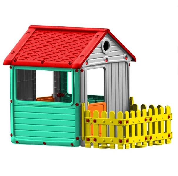 Купить Игровой домик для улицы с ограждением, Dolu